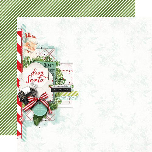 Simple Stories - Simple Vintage North Pole Collection - 12 x 12 Double Sided Paper - Dear Santa