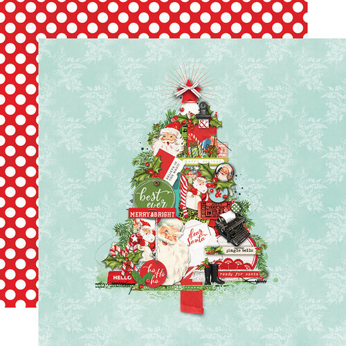 Simple Stories - Simple Vintage North Pole Collection - 12 x 12 Double Sided Paper - The Trimmings
