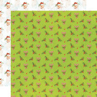 Simple Stories - Simple Vintage North Pole Collection - 12 x 12 Double Sided Paper - Holly Days