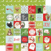 Simple Stories - Simple Vintage North Pole Collection - 12 x 12 Double Sided Paper - 2 x 2 Elements