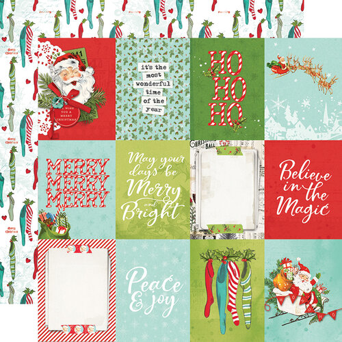 Simple Stories - Simple Vintage North Pole Collection - 12 x 12 Double Sided Paper - 3 x 4 Elements