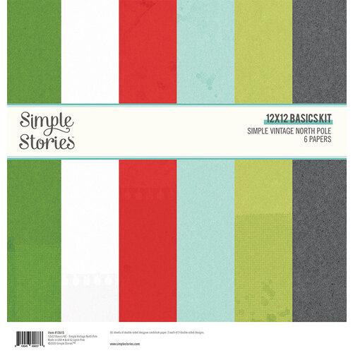 Simple Stories - Simple Vintage North Pole Collection - 12 x 12 Simple Basics Kit