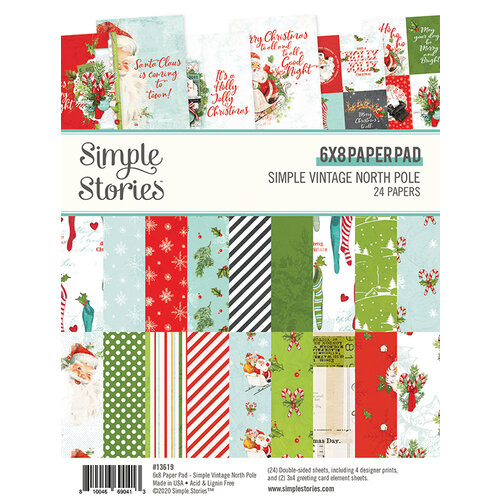 Simple Stories - Simple Vintage North Pole Collection - 6 x 8 Paper Pad