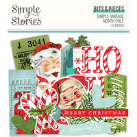 Simple Stories - Simple Vintage North Pole Collection - Ephemera - Bits and Pieces