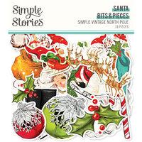 Simple Stories - Simple Vintage North Pole Collection - Ephemera - Bits and Pieces - Santa
