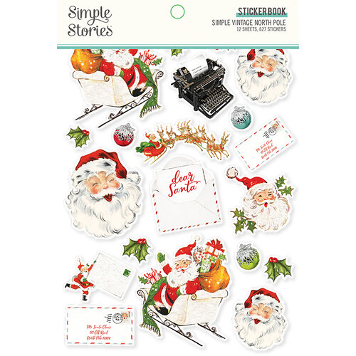 Simple Stories - Simple Vintage North Pole Collection - Sticker Book