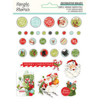 Simple Stories - Simple Vintage North Pole Collection - Decorative Brads
