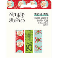 Simple Stories - Simple Vintage North Pole Collection - Washi Tape