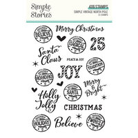 Simple Stories - Simple Vintage North Pole Collection - Clear Photopolymer Stamps