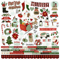 Simple Stories - Jingle All The Way Collection - 12 x 12 Cardstock Stickers