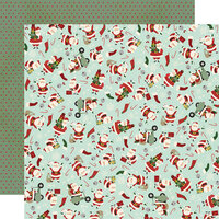 Simple Stories - Jingle All The Way Collection - 12 x 12 Double Sided Paper - Santa Squad