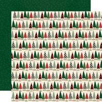 Simple Stories - Jingle All The Way Collection - 12 x 12 Double Sided Paper - Tree Trimming