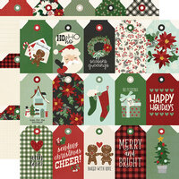 Simple Stories - Jingle All The Way Collection - 12 x 12 Double Sided Paper - Tags