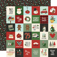 Simple Stories - Jingle All The Way Collection - 12 x 12 Double Sided Paper - 2 x 2 Elements