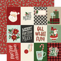 Simple Stories - Jingle All The Way Collection - 12 x 12 Double Sided Paper - 3 x 4 Elements