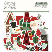 Simple Stories - Jingle All The Way Collection - Ephemera - Bits and Pieces