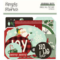 Simple Stories - Jingle All The Way Collection - Ephemera - Journal Bits