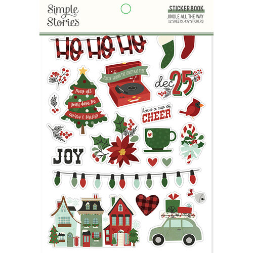 Simple Stories - Jingle All The Way Collection - Sticker Book