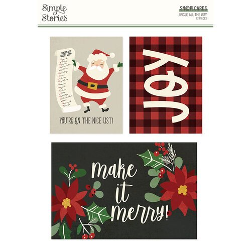 Simple Stories - Jingle All The Way Collection - SNAP Cards