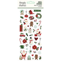 Simple Stories - Jingle All The Way Collection - Puffy Stickers