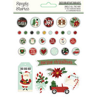 Simple Stories - Jingle All The Way Collection - Decorative Brads