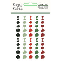 Simple Stories - Jingle All The Way Collection - Enamel Dots