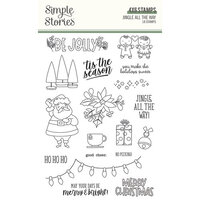 Simple Stories - Jingle All The Way Collection - Clear Photopolymer Stamps