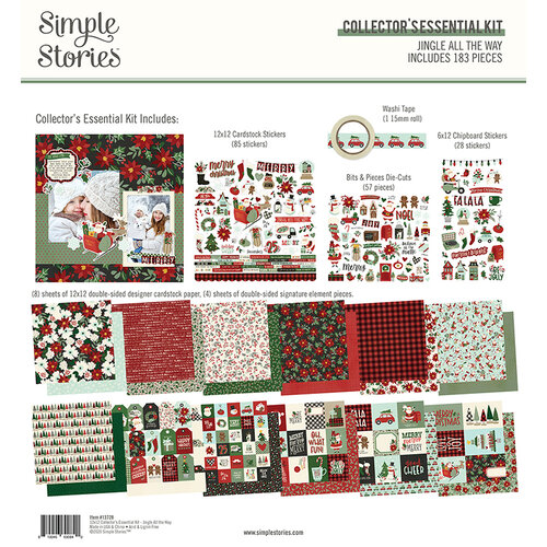 Simple Stories - Jingle All The Way Collection - 12 x 12 Collector's Essential Kit