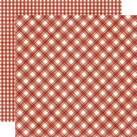 Simple Stories - Jingle All The Way Collection - 12 x 12 Double Sided Paper - Cranberry Plaid and Gingham