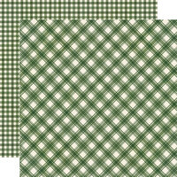 Simple Stories - Jingle All The Way Collection - 12 x 12 Double Sided Paper - Evergreen Plaid and Gingham