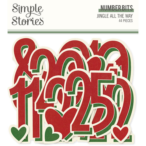 Simple Stories - Jingle All The Way Collection - Ephemera - Number Bits