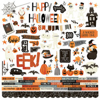 Simple Stories - Boo Crew Collection - 12 x 12 Cardstock Stickers