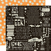 Simple Stories - Boo Crew Collection - 12 x 12 Double Sided Paper - Cast a Spell