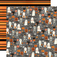 Simple Stories - Boo Crew Collection - 12 x 12 Double Sided Paper - Our Little Spooks
