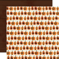 Simple Stories - Boo Crew Collection - 12 x 12 Double Sided Paper - Hey Pumpkin