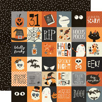 Simple Stories - Boo Crew Collection - 12 x 12 Double Sided Paper - 2 x 2 Elements