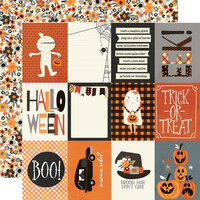 Simple Stories - Boo Crew Collection - 12 x 12 Double Sided Paper - 3 x 4 Elements