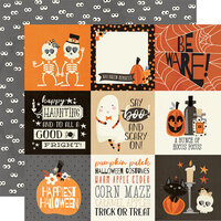 Simple Stories - Boo Crew Collection - 12 x 12 Double Sided Paper - 4 x 4 Elements
