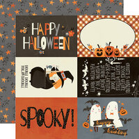 Simple Stories - Boo Crew Collection - 12 x 12 Double Sided Paper - 4 x 6 Elements