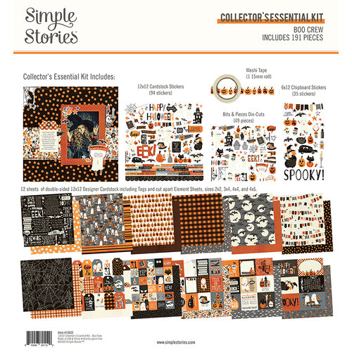 Simple Stories - Boo Crew Collection - 12 x 12 Collector's Essential Kit
