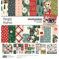 Simple Stories - Winter Cottage Collection - 12 x 12 Collection Kit