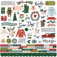 Simple Stories - Winter Cottage Collection - 12 x 12 Cardstock Stickers