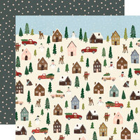 Simple Stories - Winter Cottage Collection - 12 x 12 Double Sided Paper - Winter Wonderland