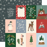 Simple Stories - Winter Cottage Collection - 12 x 12 Double Sided Paper - 3 x 4 Elements