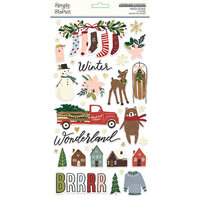 Simple Stories - Winter Cottage Collection - 6 x 12 Chipboard Stickers