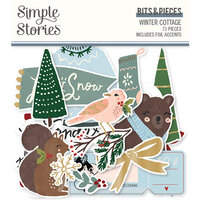 Simple Stories - Winter Cottage Collection - Ephemera - Bits and Pieces