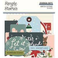 Simple Stories - Winter Cottage Collection - Ephemera - Journal Bits