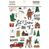 Simple Stories - Winter Cottage Collection - Sticker Book