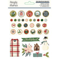 Simple Stories - Winter Cottage Collection - Decorative Brads