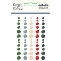 Simple Stories - Winter Cottage Collection - Enamel Dots